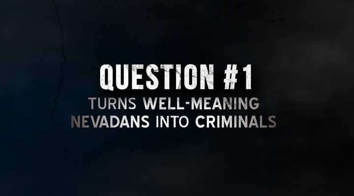 Stand with law enforcement. Vote No on Nevada Question 1!