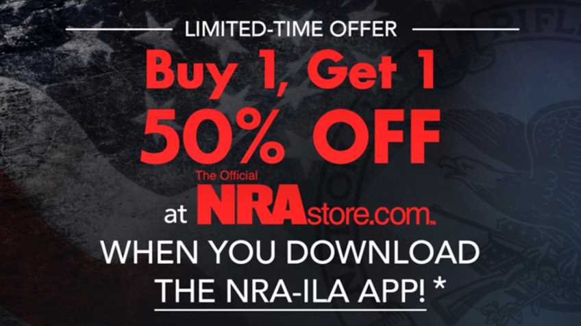 Get the Official NRA-ILA App for an Exclusive NRA Store Discount!