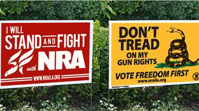 Show Your Support—NEW NRA Yard Signs Available!
